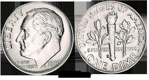 1950 Dime