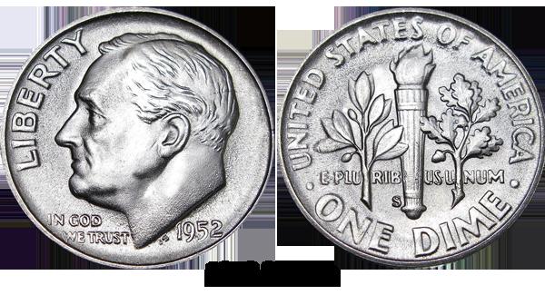 1952 Dime
