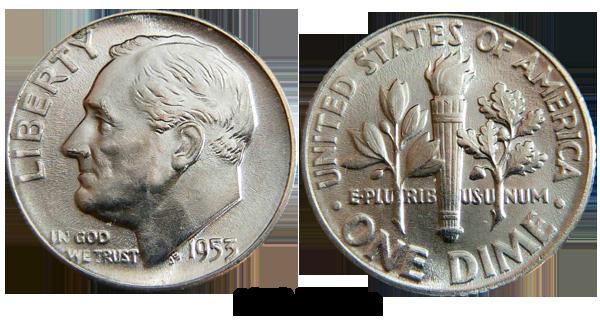 1953 Dime