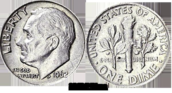 1962 Dime