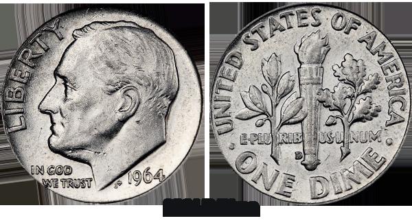 1964 D Roosevelt Dime Value