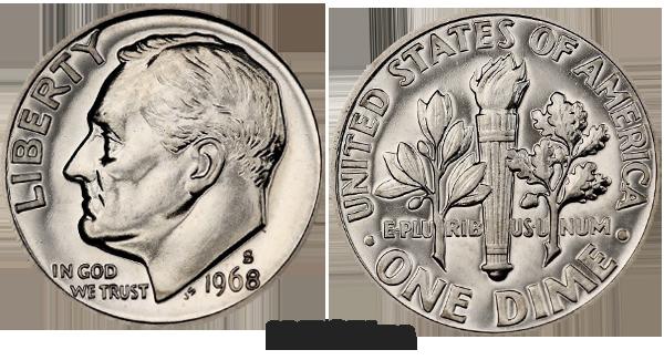 1968 Dime