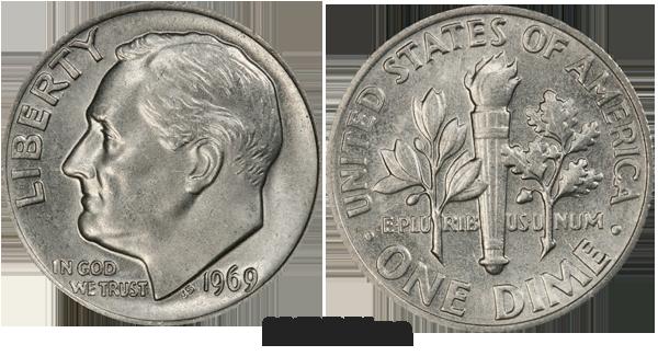 1969 Dime