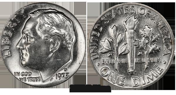 1973 Dime