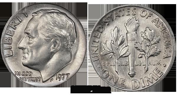 1977 Dime