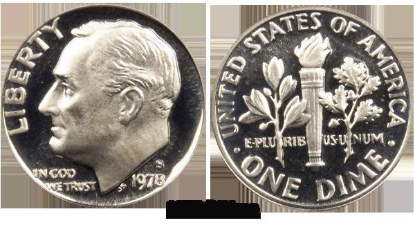 1978 s roosevelt dime value