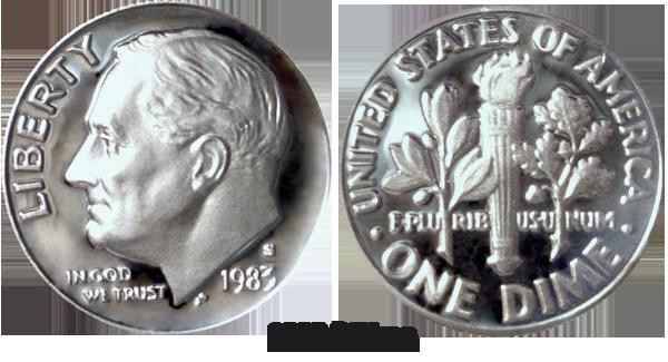 1983 Dime